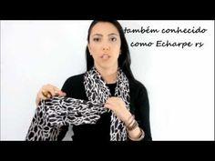 13 Idéias diferentes de como usar cachecóis e Echarpes - YouTube