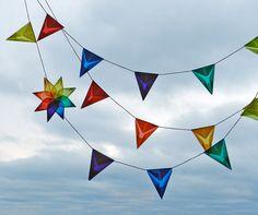 Ninefoot Rainbow Kite Paper Banner with Rainbow by handworkstudio, $24.00