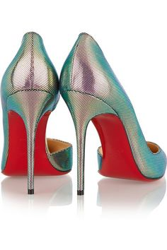Heel measures approximately 100mm/ 4 inches Multicolored satin Slip on Designer color: Digital/ Silver