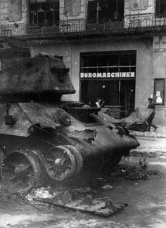 T-34-76, shot down during the battle for Berlin, may 1945.