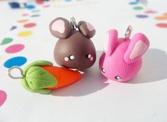 Best friends bunny charms- Mix and match your own. $8.00, via Etsy.