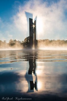 Carillon in fog, by Kayak Cameraman