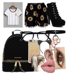 """""""Hi"""" by alissa33 ❤ liked on Polyvore featuring MICHAEL Michael Kors, Casetify and Cara"""