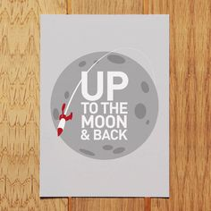 'up to the moon & back' postcard by showler and showler | notonthehighstreet.com