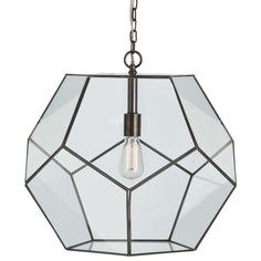 arteriors tenley large faceted pendant