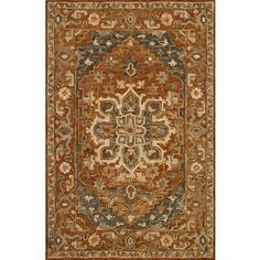 Hand-hooked Owen Rust Wool Rug - 3'6 x 5'6 - Free Shipping Today - Overstock - 20155841