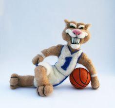 University of Kentucky Wildcats Mascot Collectable by 358studio, $65.00 #kentucky #UK #wildcats -- Except he looks like he wants to eat you...