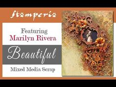 Beautiful: mixed media canvas tutorial Mixed Media Techniques, Mixed Media Tutorials, Mix Media, Mixed Media Canvas, Diy Tutorial, Decoupage, Scrap, Layout, Make It Yourself