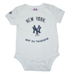 Majestic New York Yankees MLB Baby / Infant Short Sleeve One-Piece Bodysuit / Romper / Onesie (Size: 18M) MLB,http://www.amazon.com/dp/B004QEDNX2/ref=cm_sw_r_pi_dp_10d7qb1QHWAGPAJT