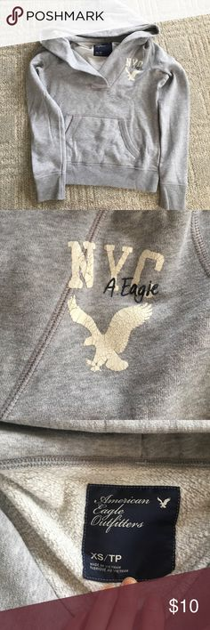 Like New AE Hoodie Worn once! AE hoodie. No flaws. Super comfy. Ships same day from a smoke free home. Any questions just ask ☺️ American Eagle Outfitters Tops Sweatshirts & Hoodies