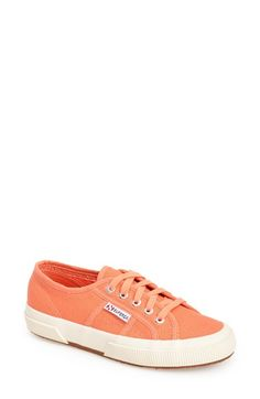 Free shipping and returns on Superga 'Cotu' Sneaker (Women) at Nordstrom.com. Casual kicks in an array of terrific colors. The textured contrast sole sets off the low-profile design, and the label and logo-embossed eyelets lend branded appeal.