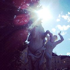 We had a beautiful day yesterday in Vienna. Took this pic at Museumsplatz!