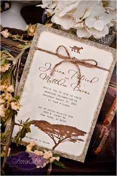 This is a wedding invitation, but I love it and would do something very similar for invitation to the dinner. I'd use this same paper for table and menu cards as well.