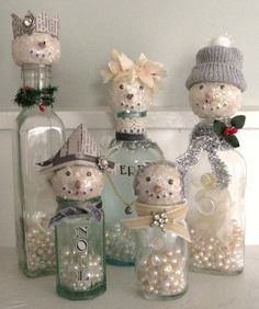 45 Easy DIY Dollar Store Christmas Decorations for Decorating on a Budget - The Trending House Christmas Love, Diy Christmas Ornaments, Homemade Christmas, Christmas Snowman, Vintage Christmas, Christmas Holidays, Christmas Decorations, Snowman Ornaments, Christmas Items