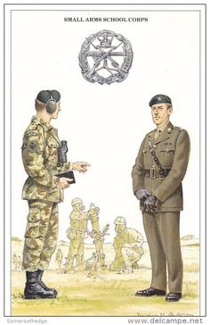 British;Small Arms School Corps, Staff Sergeant & Major  by Douglas N. Anderson