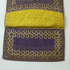 Georgian 18th Century Silk Purse Pocketbook Wallet Lettercase Circa from trinityantiques on Ruby Lane