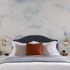 Hannah Cork is a professional interior stylist, and Sharps had the pleasure of working with her on a bedroom style named Marbled Look. Marble Wall, Interior Stylist, Bedroom Styles, Bedroom Decor, Create, Grey, Furniture, Home Decor, Gray