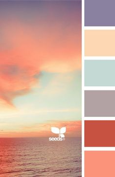 Colors (from the top): Violet Purple > Butter Cream > Light Cyan > Lavender-Grey > Deep Brick Poppy Red > Coral Bedroom Color Schemes, Colour Schemes, Bedroom Colors, Periwinkle Bedroom, Periwinkle Color, Colour Combinations, Pantone, Cyan, Design Seeds