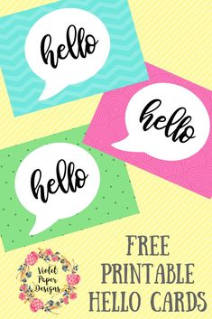 Free Printable Hello Cards