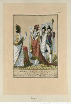 Napoléon I.er Empereur des Français se met sur la tête la Couronne Imperial Beni par le Pape le 11 Frimai.e An 13 jour du Sacre dans l'Ég. Metropolitaine de Paris : [estampe]