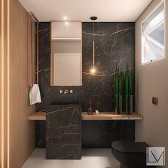 Lavabo sofisticado! Washroom Design, Bathroom Design Luxury, Bathroom Design Small, Modern Bathroom, Wc Design, Toilet Design, Bathroom Inspiration, Interior Design Inspiration, Washbasin Design