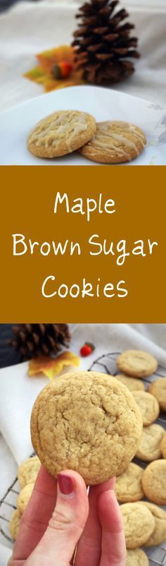 Delicious and easy maple brown sugar cookies with maple glaze. Easy fall recipe. Best maple syrup cookies. Amazing, simple and soft maple brown sugar cookies!