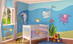 Dormitorio de bebé con stickers