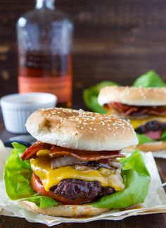 Bourbon burger with glaze