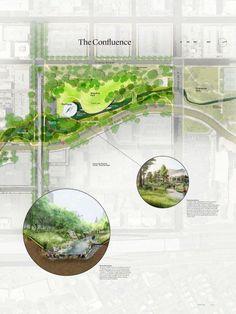 The Waller Creek Conservancy Design Competition Final Four- MVVA - Recherche Google