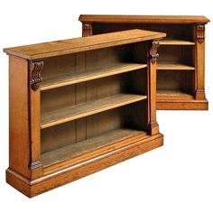 Pair of Early Victorian Oak Bookcases | From a unique collection of antique and modern bookcases at http://www.1stdibs.com/furniture/storage-case-pieces/bookcases/