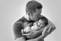 daddy and baby  newborn baby boy  © Bare Baby Photography