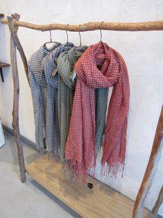 natural rustic clothing rack