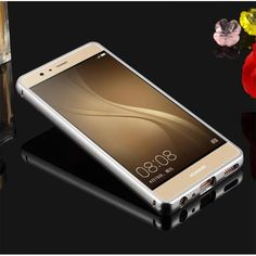 Phone Case For Huawei Acsend P7 P8 P9 P10 Lite Aluminum Frame Mirror Back Cover Cases