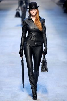 Lily Cole at Hermes, Fall 2010 Totally reminds me of Emma Peel, the Avengers