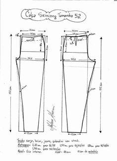 Jeans ajustado moldes V.C 05