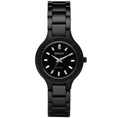 DKNY Ladies Ceramic Black Watch