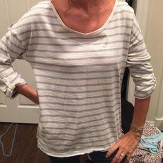 Loft cozy long sleeve shirt Loft long sleeve comfy shirt. Blue and white shirt LOFT Tops Tees - Long Sleeve