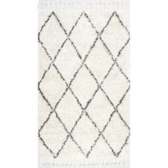 1f50be2e8ff nuLOOM Hand-knotted Moroccan Trellis Natural Shag Wool Rug ( 554) ❤ liked on