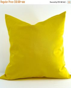 SALE Gold  Pillow cover. Solid gold Pillow by TwistedBobbinDesigns