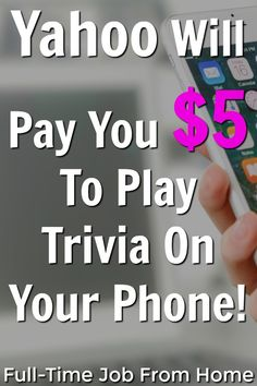 The Yahoo Play App is a new app that gives you points for watching videos and playing trivia. As you earn points, you can exchange them for discount codes and Make Money Online, How To Make Money, How To Get, Apps That Pay You, Online Income, Be Your Own Boss, Work From Home Jobs, Extra Money, Trivia