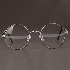 0dd408507d Women or Men Retro Round Metal Frame Clear Lens Glasses Nerd Spectacles Gold  Rimmed Glasses