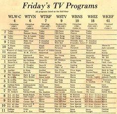 1973 TV Programing.