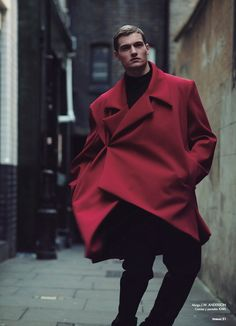 """mannenmode: """"See saw"""" by Cecilie Harris for TenMag. Mens Fashion, Fashion Outfits, Fashion Trends, Fashion Inspiration, Red Outfits, Street Fashion, Pose, Mode Editorials, Fashion Editorials"""