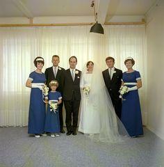 Rennie wedding   source: Upper Hutt City Library #vintageflowergirl