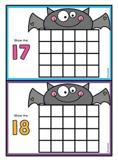 Bat-Ten-Frame-Activity-Cards-2151193 Teaching Resources - TeachersPayTeachers.com