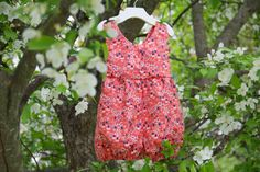 Coral Wildflower Playsuit // Bubble //Sunsuit by MyDearPoppy Heirloom Sewing, Playsuit, Wild Flowers, Bubbles, Coral, Trending Outfits, Clothes, Vintage, Etsy
