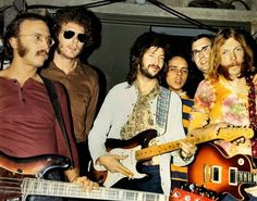 Derek & the Dominos, backstage at the War Memorial for their 12/02/1970 show. (clapton)