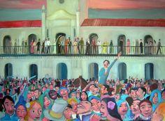 25 de mayo de 1810. Cuadro de la Serie Historia Argentina hecho por Diego Manuel