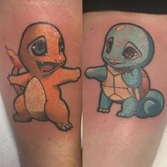 You're the Charmander to my Squirtle. | 18 Impossibly Sweet Sibling Tattoos