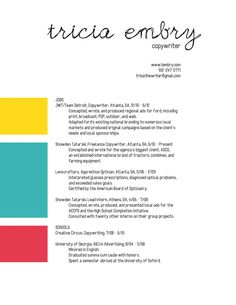 Good Example Of A Universal Resume Format  Fashion Stylist Tips